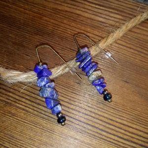 Blue Lapis Dangle Earrings